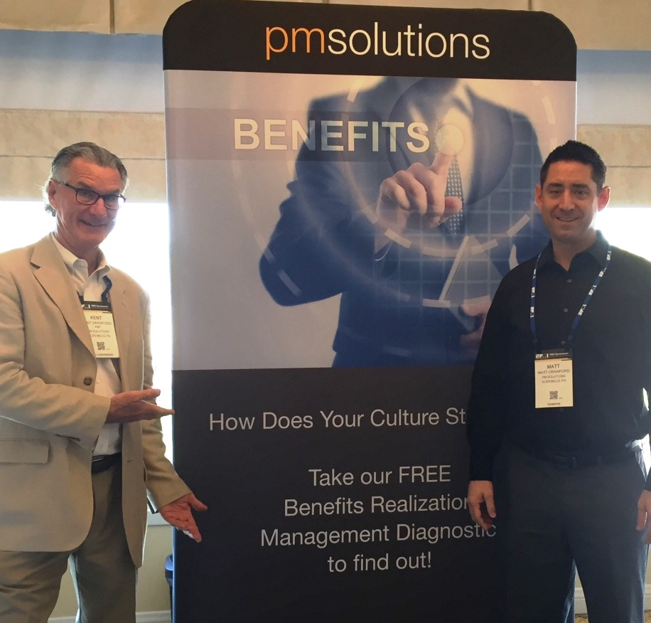 Kent Crawford and Matt Crawford at the PMO Symposium 2016